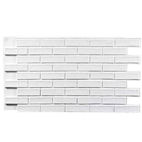 Amostra Painel New Wall Contemporary Brick 30x30cm - White