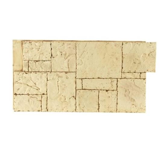 Amostra Painel New Wall Hand Cut Block 15x15cm - Tan
