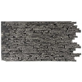 Painel New Wall Stacked Stone 1.20x60cm - Light Gray